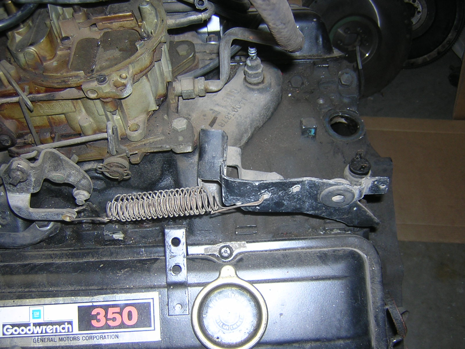 2017 Buick Grand National >> SBC STOCK THROTTLE CABLE BRACKET FOR MONTE SS | GBodyForum ...