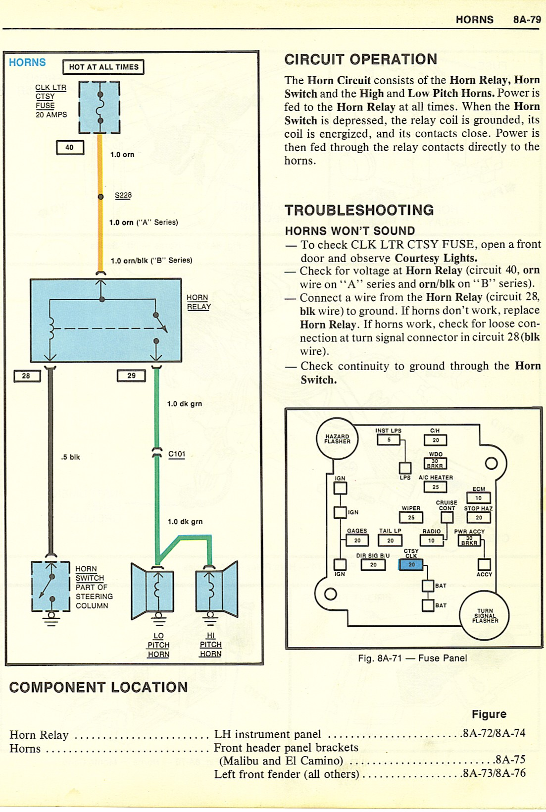 83 Monte Wiring Diagram Help Gbodyforum 78 88 General Motors A 1966 Ford Air Conditioning Horns 57101