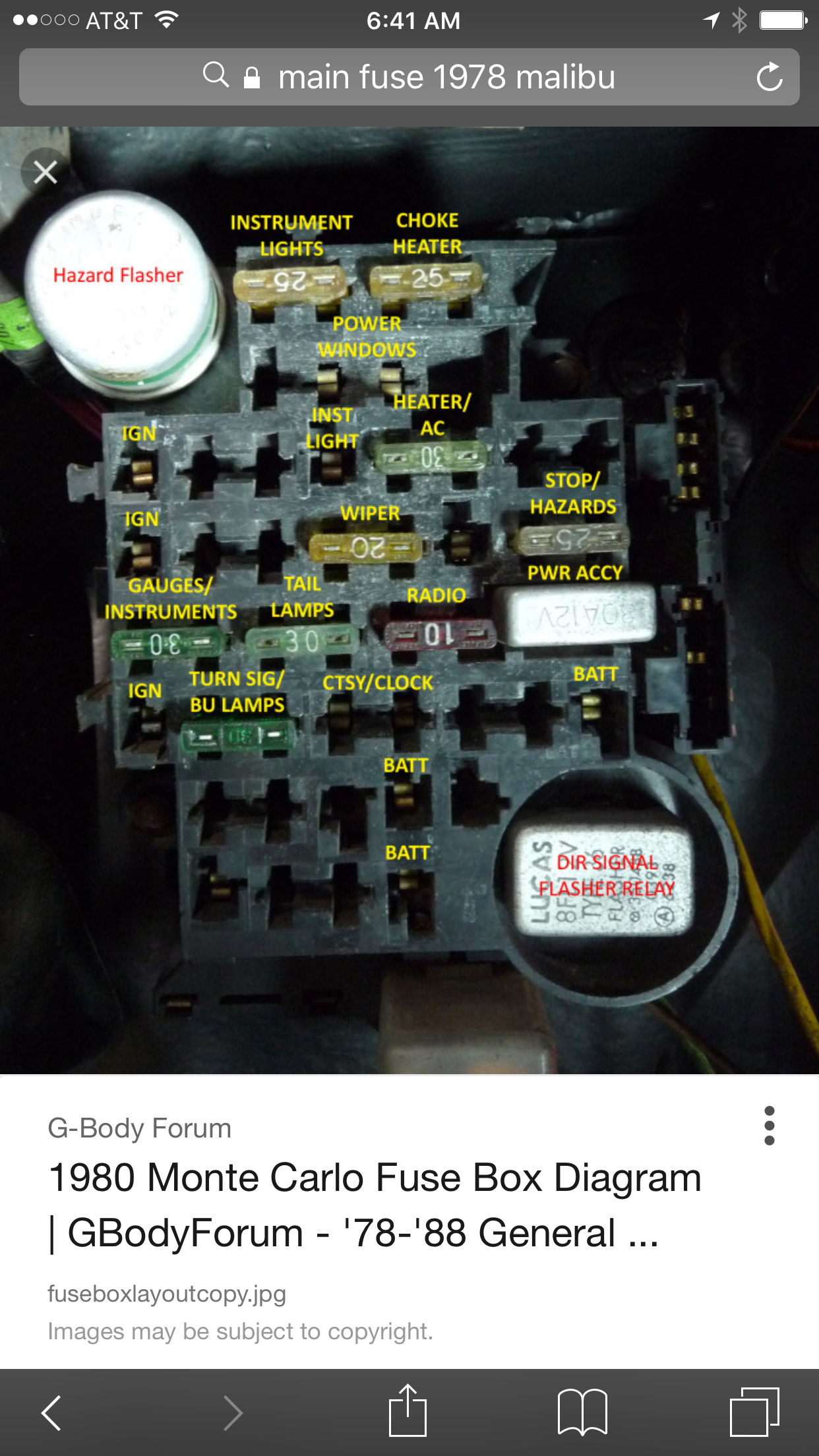 partial fuse box down gbodyforum '78 '88 general motors a g g body fuse box diagram at bayanpartner.co