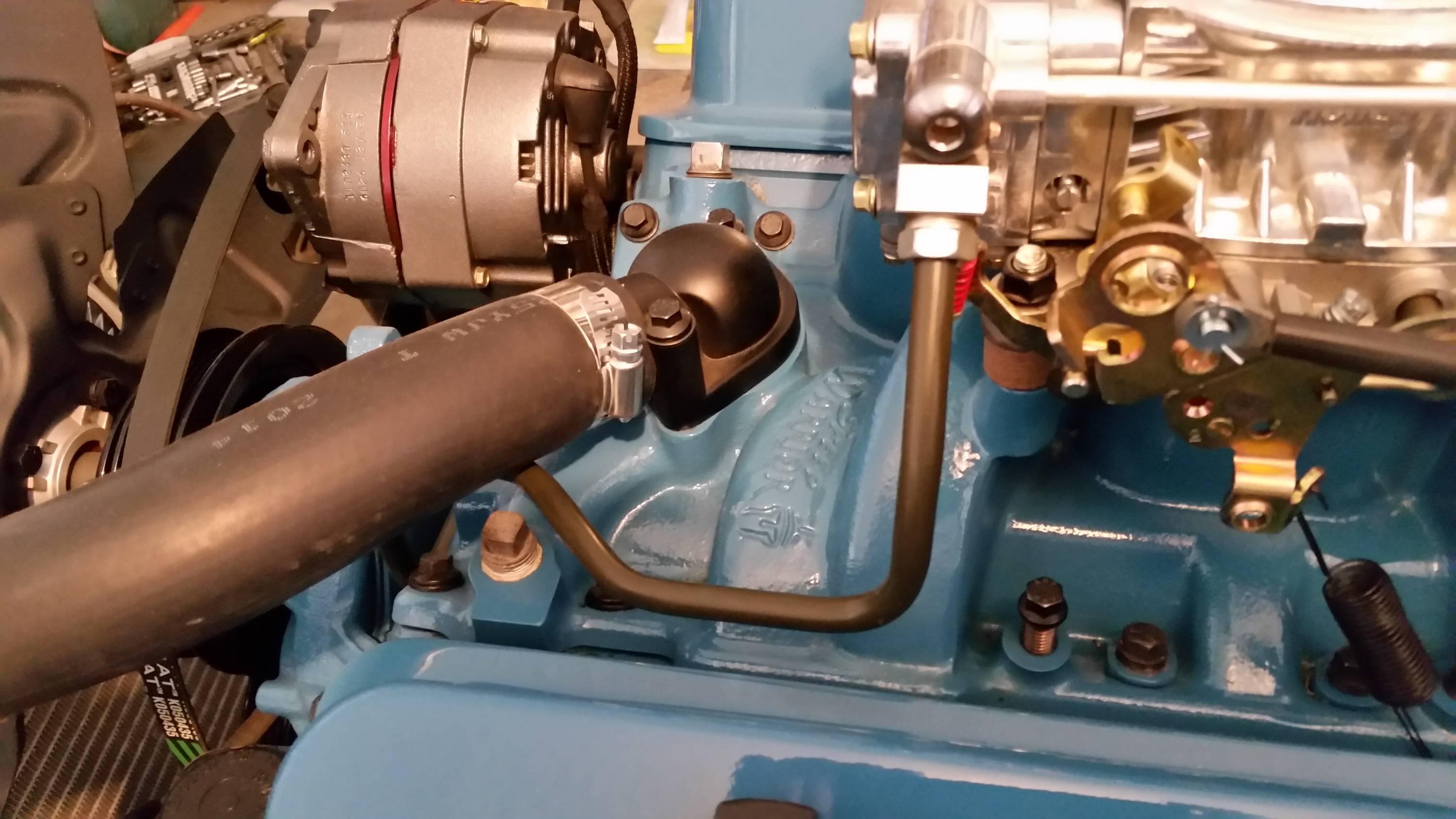Small Holley fuel line routing tip with pics - GForum ... on