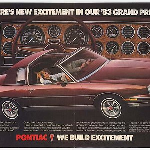 There's New Excitement in our '83 Grand Prix