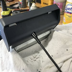 CaliWagon83's Ashtray Hack Charging Cord Hole Test Fit