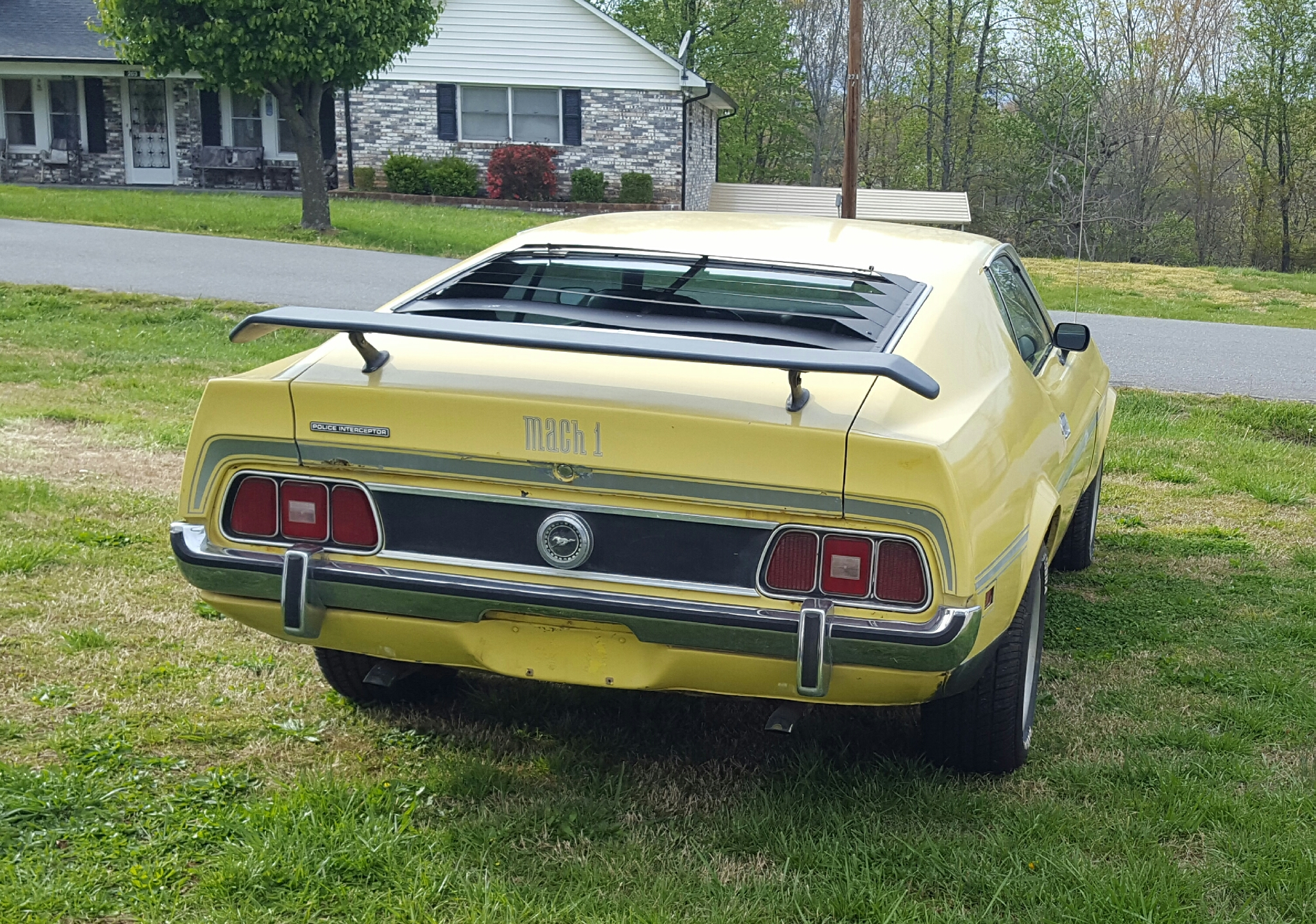 71 Mach 1 Mustang Rear End